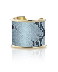 "Rachael Ruddick | Blue 2"" Leather Inlay Cuff 