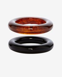 Kenneth Jay Lane - Brown Set Of 2 Resin Bangles - Lyst