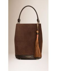 Burberry | Brown Bead And Leather Tassel Charm | Lyst