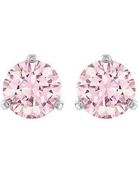 Swarovski | Pink Solitaire Earrings | Lyst