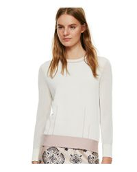 Tory Burch | White Crewneck Sweater | Lyst