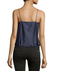 F.t.b By Fade To Blue - Blue Pleated Bubble Camisole - Lyst