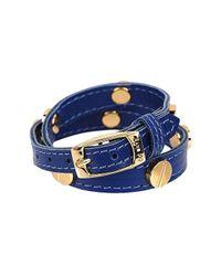 CC SKYE | Blue The Signature Screw Bracelet Double Wrap In Gold | Lyst