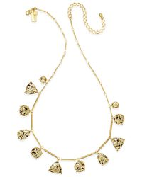 Kate Spade | Metallic Gold-tone Stone Drop Necklace | Lyst