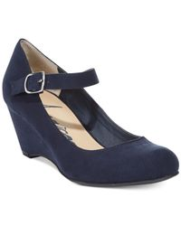 American Rag | Blue Meesha Mary Jane Wedges | Lyst