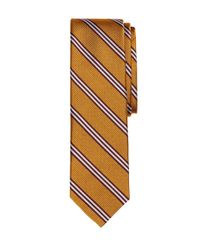 Brooks Brothers | Orange Bb#1 Stripe Slim Tie for Men | Lyst
