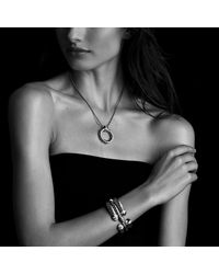 David Yurman | Metallic Waverly Bracelet With Diamonds, 5mm | Lyst