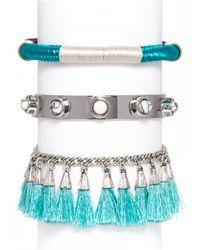 BaubleBar | Metallic Croatia Tassel Bracelet Trio-standard | Lyst