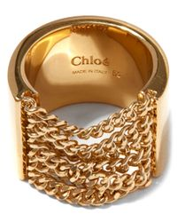 Chloé - Metallic Delfine Chain Ring - Lyst