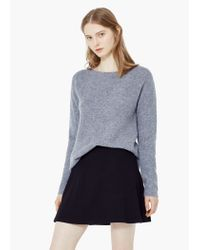 Mango | Gray Wool-blend Knit Sweater | Lyst