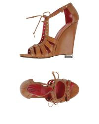Cesare Paciotti - Brown Sandals - Lyst