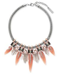 Vince Camuto | Metallic Fringed Collar Necklace | Lyst
