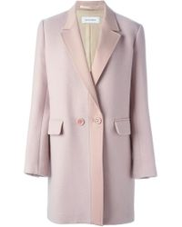 Mauro Grifoni - Pink Contrast Lapel Short Coat - Lyst