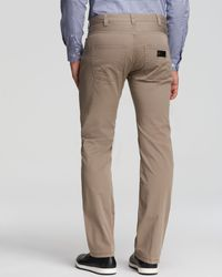 Armani | Natural Jeans - Slim Fit In Medium Beige for Men | Lyst