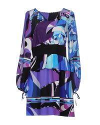 Emilio Pucci - Purple Short Dress - Lyst