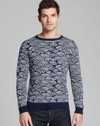 Gant Rugger | Blue Wave Jaquard Sweater for Men | Lyst