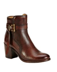 Frye | Brown Malorie Leather Ankle Boots | Lyst