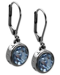 T Tahari | Blue Hematite-tone Essential Signature Drop Earrings | Lyst