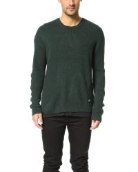 Cheap Monday - Green Curve Knit Sweater for Men - Lyst
