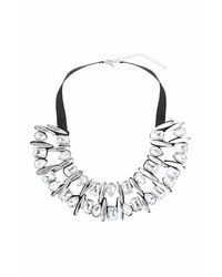 TOPSHOP | White Mixed Stone Necklace | Lyst