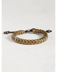 John Varvatos | Metallic Brass Snake Bone Vertebrae Bracelet for Men | Lyst