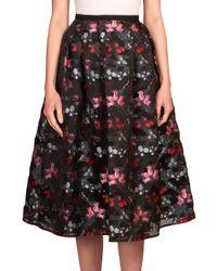 Erdem | Black Ormani Skirt | Lyst