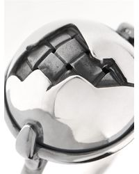 Bottega Veneta - Metallic Intrecciato Oxidised Antique-Silver Ring - Lyst
