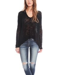 Helmut Lang - Black Irregular Silk Sweater Pullover - Lyst