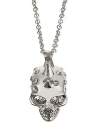 Alexander McQueen - Metallic Punk Skull Necklace, Women's, Silver - Lyst