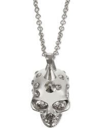 Alexander McQueen | Metallic Punk Skull Necklace, Women's, Silver | Lyst