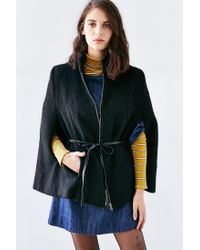 BB Dakota | Black Zoey Cape Coat | Lyst