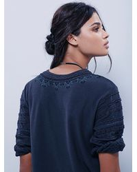Free People - Blue New Romantics Womens New Romantics Albion Tee - Lyst