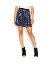 RACHEL Rachel Roy - Blue Sequin Circle Skirt - Lyst