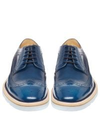 Paul Smith - Blue Grand Leather Derby Shoes for Men - Lyst