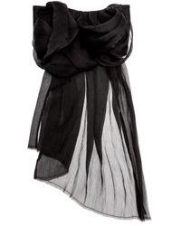 Ann Demeulemeester - Black Absolution Chiffon Belt - Lyst