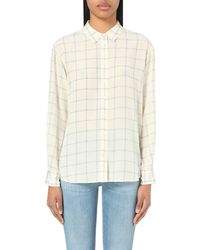 Closed | Natural Checked Silk Shirt | Lyst