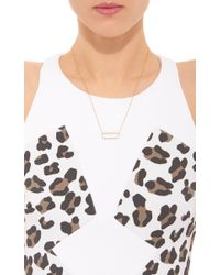 Monica Vinader - Metallic Gold Plated And Diamond Diva Rectangle Open Necklace - Lyst