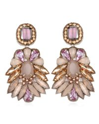 Suzanna Dai | Pink Tuileries Drop Earrings, Pale Orchid/grey | Lyst