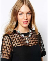 Oasis - Multicolor Exclusive For Asos Iridescent Collar Necklace - Lyst