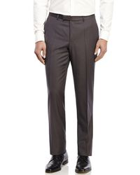 BOSS - Gray Kito W Slim Fit Tapered Cuffed Trousers for Men - Lyst