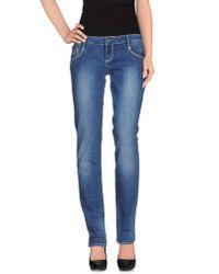 Calvin Klein Jeans - Blue Denim Trousers - Lyst