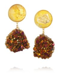 Dara Ettinger | Metallic Celeste Goldplated Agate Earrings | Lyst
