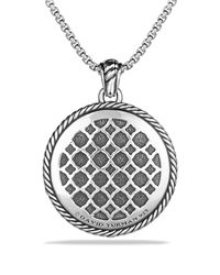 David Yurman - Metallic Labyrinth Small Disc Pendant - Lyst