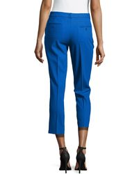 Michael Kors - Blue Samantha Cropped Skinny Pants - Lyst