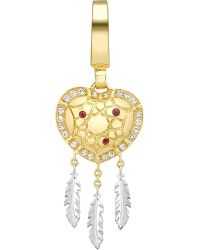 Theo Fennell | Metallic Limited-edition Dreamcatcher Art 18ct Yellow-gold And Diamond Charm - For Women | Lyst
