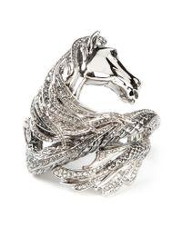 Roberto Cavalli | Metallic Horse Detail Embellished Cuff | Lyst