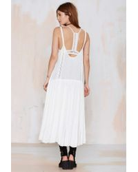 Nasty Gal - White Dahnya High/low Tiered Top - Lyst