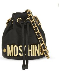 Moschino | Logo Bucket Shoulder Bag, Women's, Black | Lyst