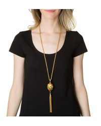 Ben-Amun | Metallic Long Gold Tassel Necklace | Lyst