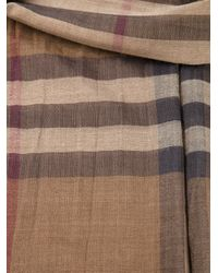 Burberry Brit - Brown Checked Scarf - Lyst